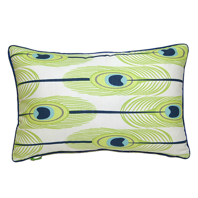 Feathers Rectangle Cushion - Green