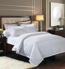 Jacquard Stripes Bedding Set - Pure White