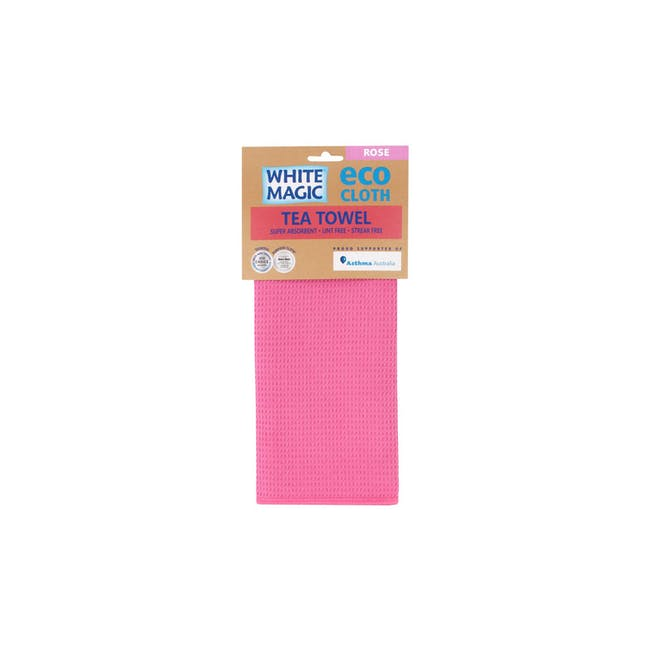 Tea Towel Single - Rose - 2