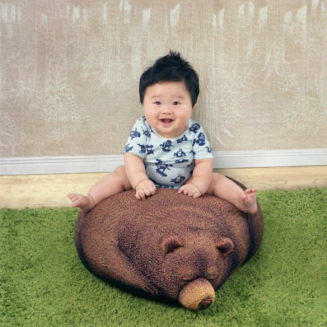 The Sleeping Grizzly Cub Bean Bag - 2
