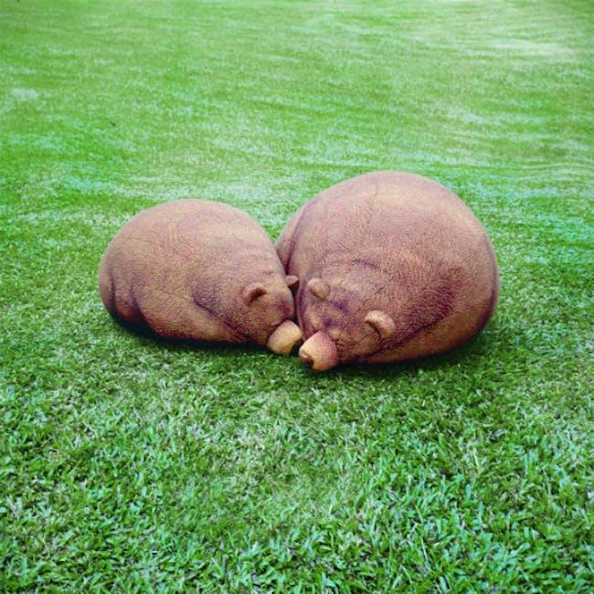 The Sleeping Grizzly Cub Bean Bag - 1