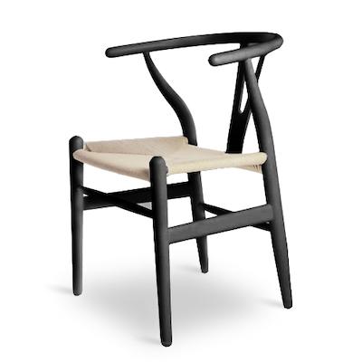 Wishbone Chair - Jet Black