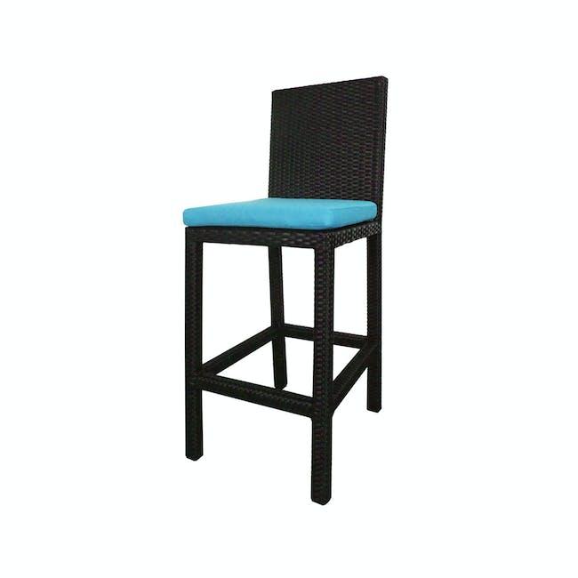 Midas 2 Chair Bar Set - Blue Cushion - 2