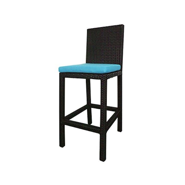 Midas 4 Chair Bar Set - Blue Cushion - 5