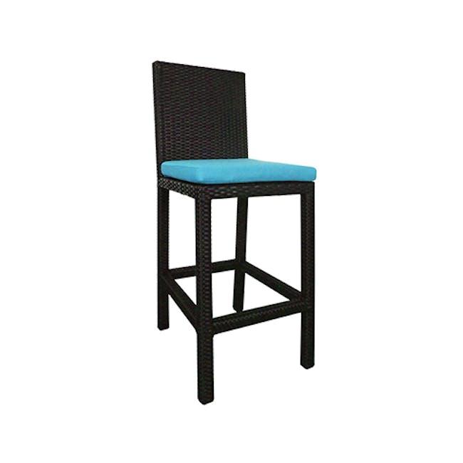 Midas 4 Chair Bar Set - Blue Cushion - 4
