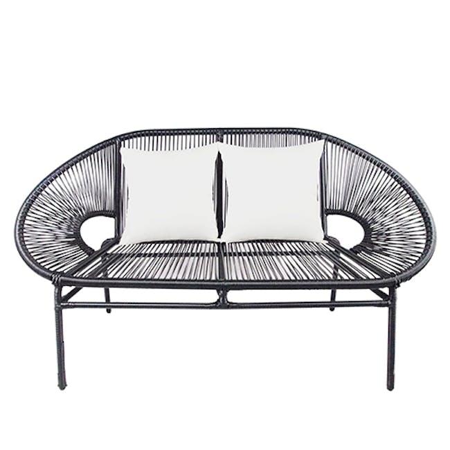Shelton Sofa Set with White Pillow - 2