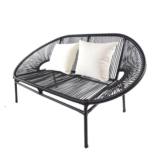 Shelton Sofa Set with White Pillow - 3
