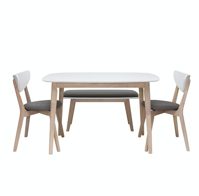 Naida Dining Chair - Natural, Grey (For Dining Set)