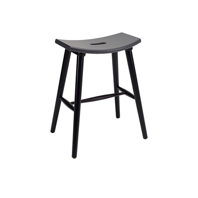 Holly Counter Stool - Black, Graphite Grey - 0