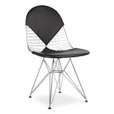 (As-Is) Eames Wire Mesh Chair - Chrome, Black
