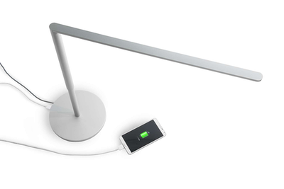 LED Lady7 Desk Lamp - Metallic White - Image 2