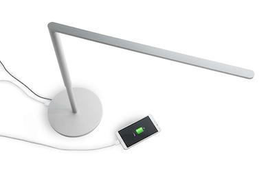 LED Lady7 Desk Lamp - Metallic White with Free 10000mAh Power Bank
