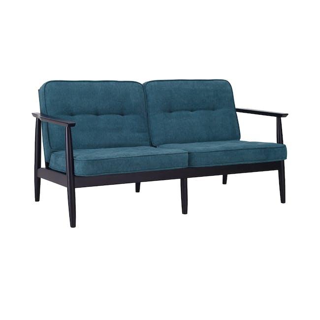 Marley 2 Seater Sofa - Black, Nile Green - 0