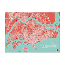 Map of Singapore - Red