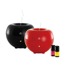 Blob (Red & Black) Diffuser with large water tank + 2 Essential Twin Pack Set