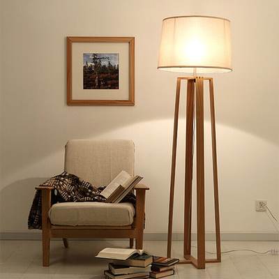Wooden Pyramid Floor Lamp - Image 2
