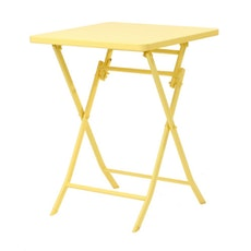 Square Folding Table - Yellow