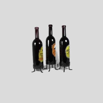 Glass Bottles Tea Light Holder (Set of 3) - Image 2