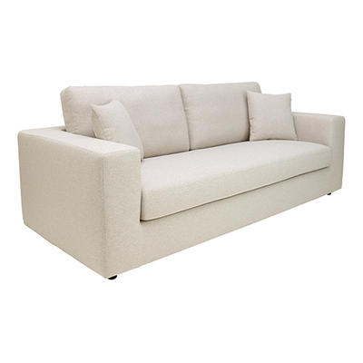 Jenny 3 Seater Sofa - Cream - Image 2