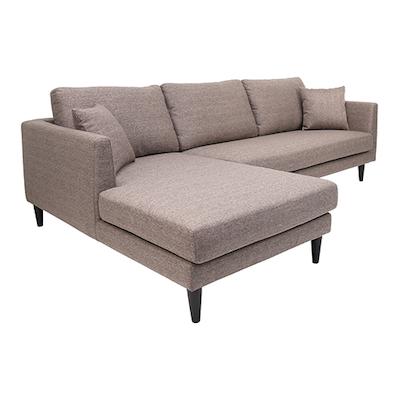 Colin L Shape Sofa - Desert Brown