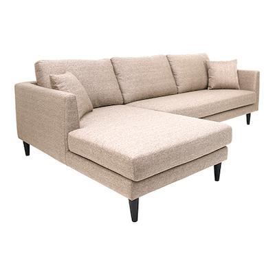Colin L Shape Sofa - Light Brown