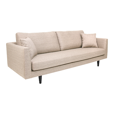 Colin 3 Seater Sofa - Light Brown - Image 2