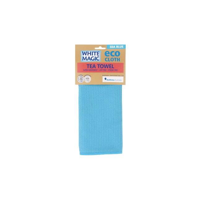 Tea Towel Single - Sea Blue - 1