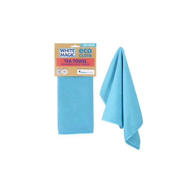 Tea Towel Single - Sea Blue - 0