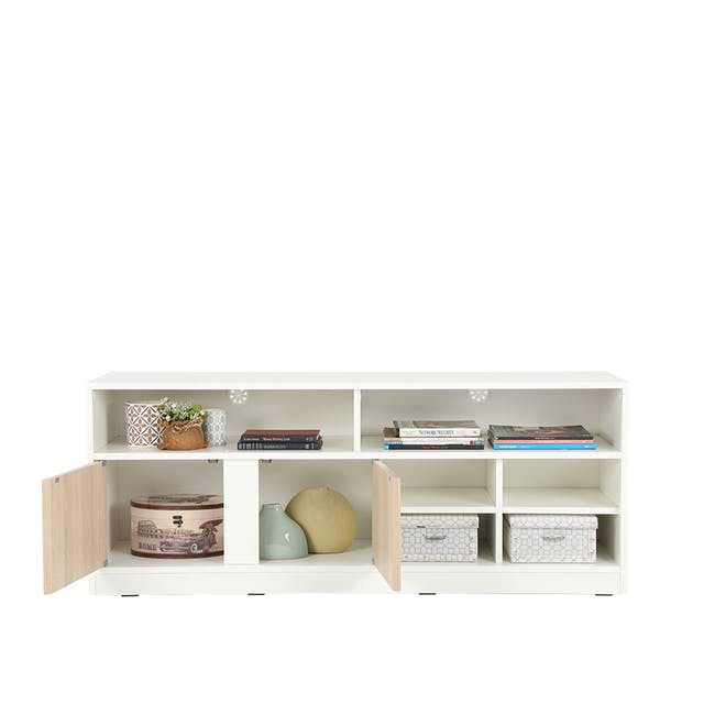Sawyer TV Console 1.5m - White, Oak - 4