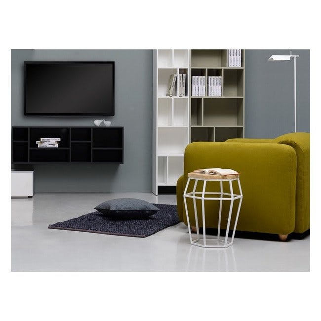 Seifer Coffee Table with Apollo Stool/Occasional Table in Black - 5