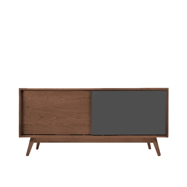 Emelie TV Console 1.2m in Walnut, Anthracite with Avery Coffee Table in Anthracite - 4