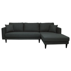 Los Angeles L-Shape Sofa - Dark Grey