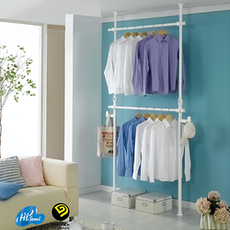 2 Tiers Flexible Clothes Rack