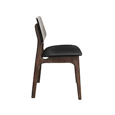 (As-Is) Tika Dining Chair - Walnut, Black 3