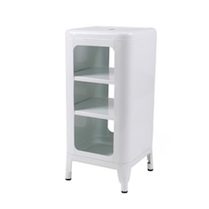 Tolix 3-Tier Stool/Cabinet - White