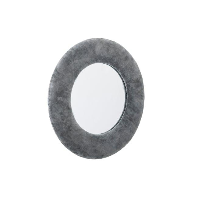Charlotte Round Mirror 40 cm - Grey - 1