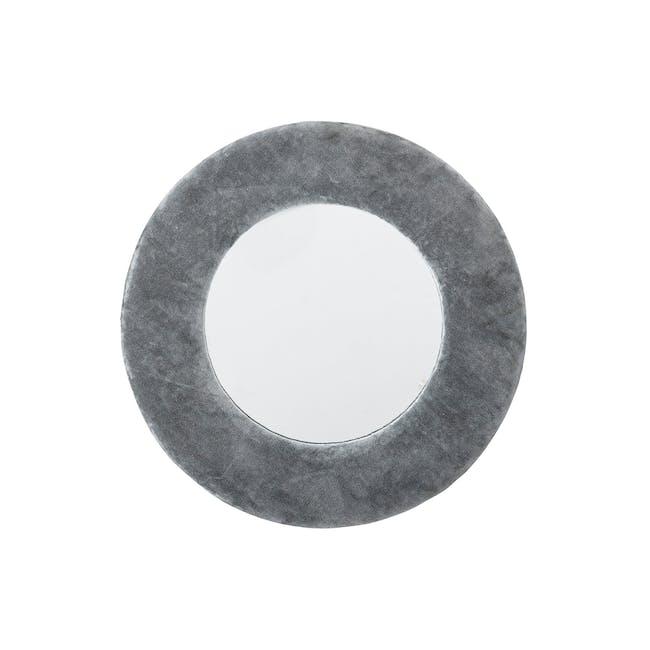 Charlotte Round Mirror 40 cm - Grey - 0