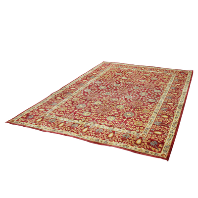 Aqua Silk Rug - Brown, Red
