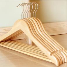 Wooden Hangers (Set of 10) - Natural