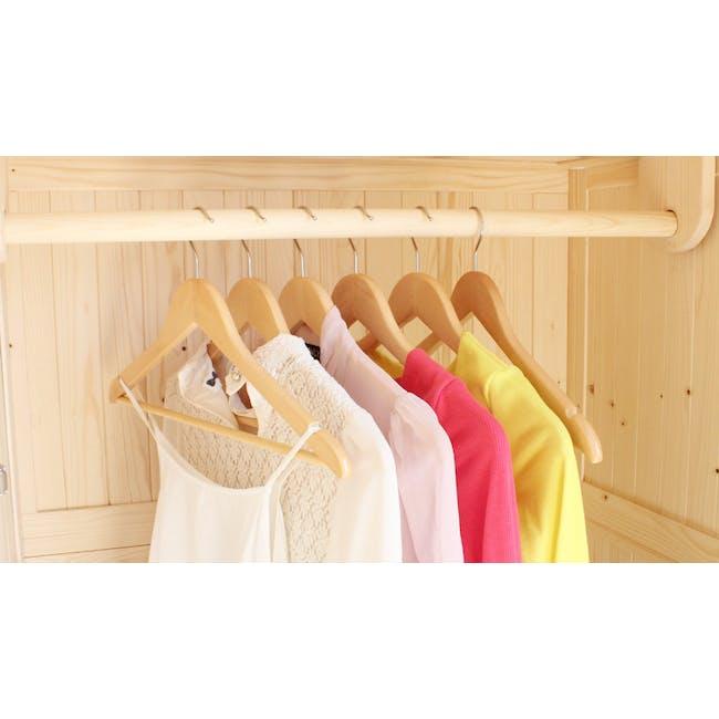 Wooden Hangers (Set of 10) - Natural - 3