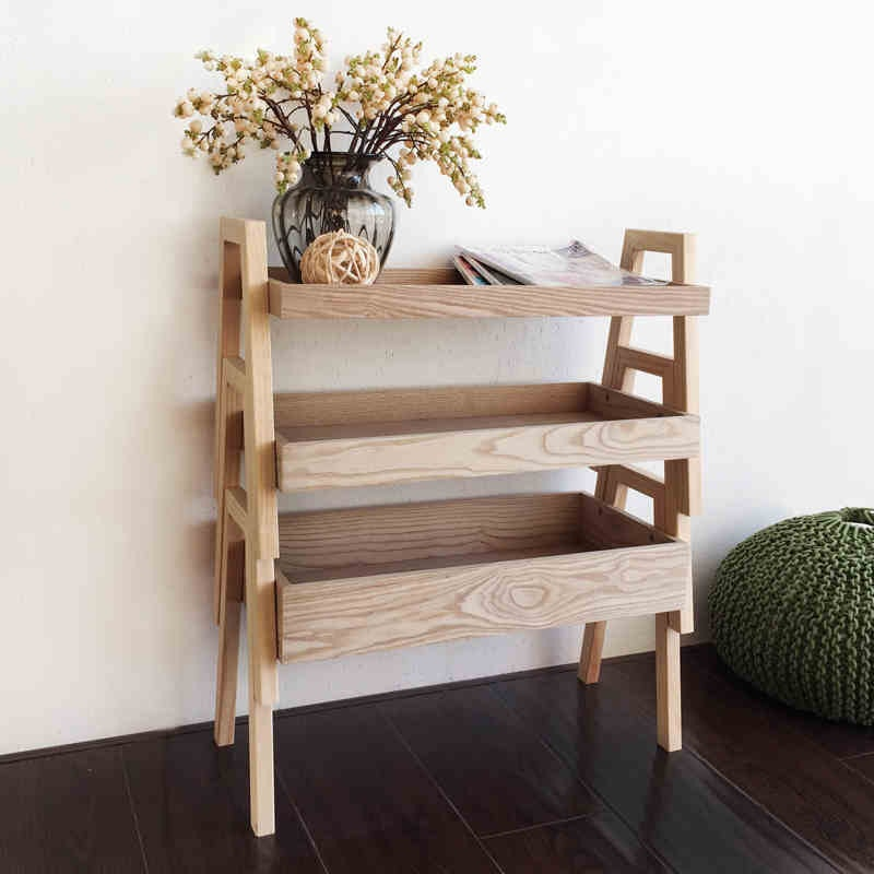 ted the stackable 3tier wooden shelf