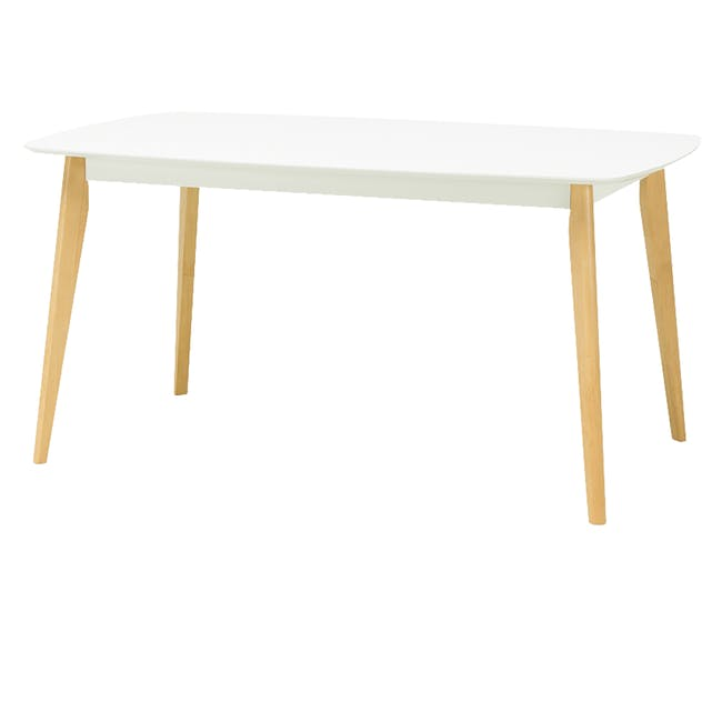 (As-is) Harold Dining Table 1.5m - Natural, White - 47 - 0