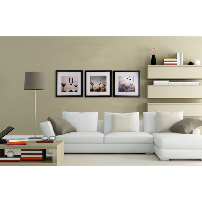 12-Inch Square Wooden Frame - White - 2