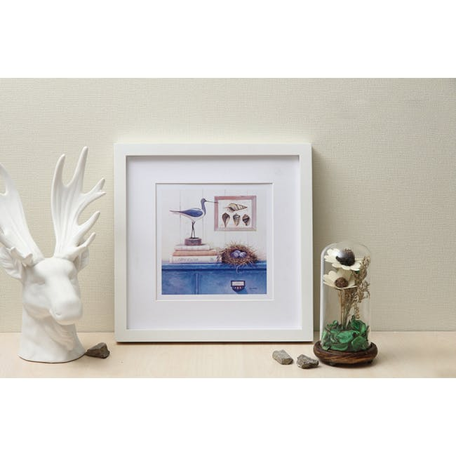 12-Inch Square Wooden Frame - White - 3