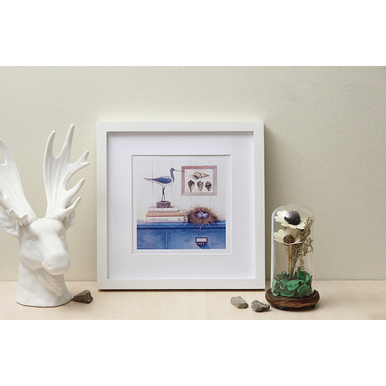 1688 - 12-Inch Square Wooden Frame - White
