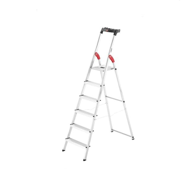 Hailo Aluminium 6 Step Ladder (2 Step Sizes) - 0