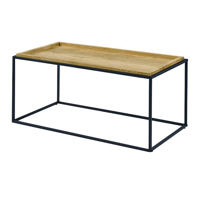 Dana Rectangle Coffee Table 1m - Oak - 0