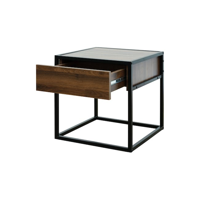 Ronan King Bed in Midnight with 2 Weston Bedside Tables - 19