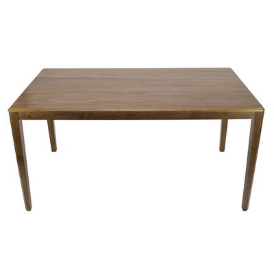 (As-is) Amelia 6 Seater Dining Table - Walnut - Image 2