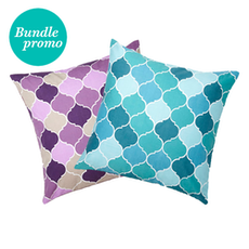 Melze Teal And Melze Purple Cushion Covers